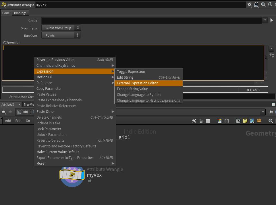 Houdini Expression Editor – CG Toolbox